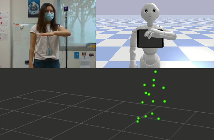 Controlling Robots with Human Poses