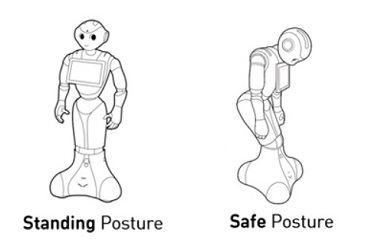 Standing and Safe Pepper postures
