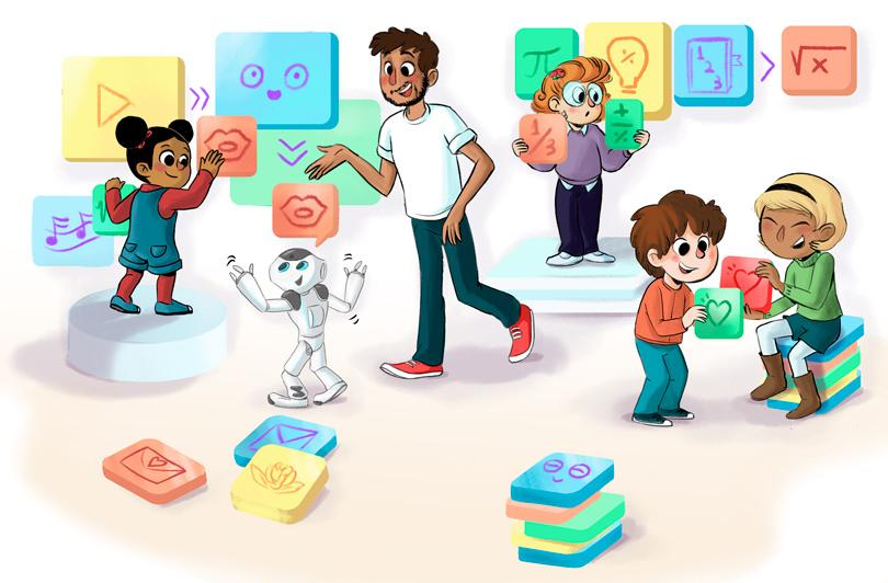 The education tool Open Roberta, a coding platform for kids